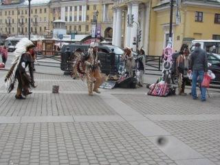 Индейцы Майя на Сенной площади,Питер!!!!