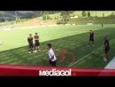 sfida a calciotennis tra Dybala-Barreto vs Gattuso-Riccio