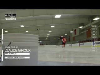 Claude Giroux Saucing Pucks In Bucket -- VAPOR APX2 Stick