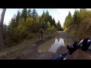 6) Спуск с гор в Ясиня на велосипедах | tisa.in.ua