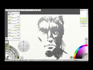 MSP19U в программе ArtRage Speed painting