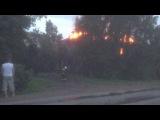 Возгорание дома в Сиверской.