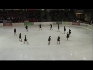 Team Berlin Adult with 'Hurts' program at Synchronized Skating Event, Oberstdorf 2013 - 4th place