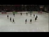 Team Berlin Adult with Hurts program at Synchronized Skating Event, Oberstdorf 2013 - 4th place