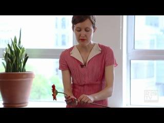 Как сделать романтичный венок из живых цветов своими руками)