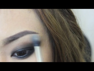 How To- Smokey Eyes Using 3 Colors with Matching Blush and Nude Lips