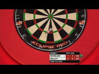 Paul Nicholson vs Stuart Kellett (PDC World Darts Championship 2014 / Round 1)
