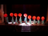 Show performance with umbrellas
