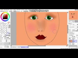 Урок рисования лица от группы ѽѴℓςțũ Ŗīşŏ√āńìŷāѽ 2 часть