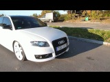Audi A4 B6 RS4 b7 white with 2,7 turbo engine