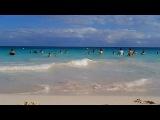 Running on the beach, Riviera Maya, Mexico.