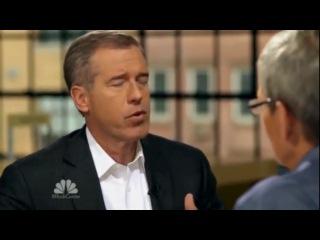 Tim Cook - Apple CEO. Первое ТВ интервью (на русском)