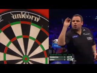 Adrian Lewis vs Robert Thornton (PDC Coral Masters 2013 / Quarter Final)