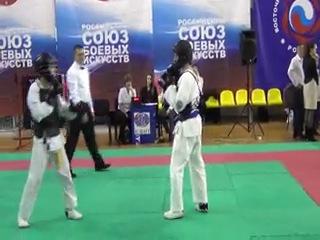 Чемпионат России По кобудо бой за 3 место.Я справа