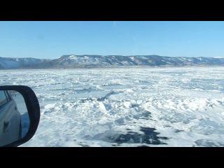 Ледовая дорога на Ольхон. 6 марта 2012.