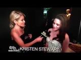 Kelly Rippa interviews Kristen Stewart BTS of the Oscars