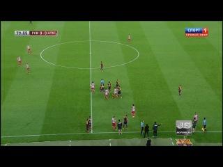 обзор матча Барселона-Атлетико Мадрид финал Супер Кубка Испании 2013