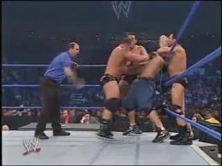 [My1Wrestling.ru] WWE Smackdown 01.01.2004 - John Cena And Chris Benoit Vs The FBI