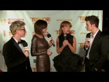Chris Colfer & Kathy Griffin on the Trevor Live Red Carpet