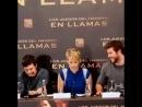 Jennifer Lawrence spilling mints at a press conference