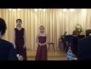 """Конкурс """"Aurora-cantus"""",  выступление  Юлии Виноградовой (в дуэте)"""