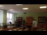 11А, репетиция сценки на новый год))