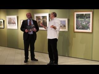 Выставка работ С.Усика в академии Андрияки