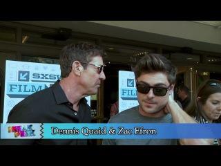 Зак Эфрон, Рамин Бахрани и Деннис Куэйд дают интервью на красной дорожке на SXSW