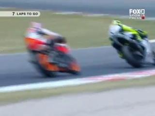 MotoGP 2007 Catalunya Rossi vs Stoner vs Perdosa