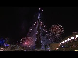 Шоу фейерверков, встреча 2014 года, Дубай.