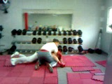 fighting with a friend after training in the gym, 2 years ago. we are not fighting angry, we are friends