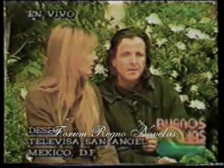 Эдуардо и Каринна во время съемок сериала