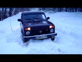 Нива 21214м (сток) в снегу!