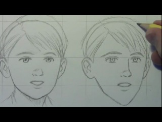 How to draw a child, teen, and older person (male) by mark crilley