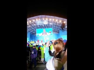 Торжественная церемония награждения! параллельный гигантский слалом, сноуборд. Россия-золото