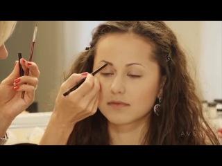 Школа макияжа. Коррекция формы бровей- тонкие брови.