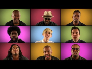 Jimmy Fallon, Miley Cyrus & The Roots Sing