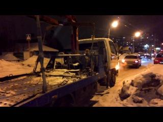 Изъятие а/м у ГО ООО Древпром в г. Стерлитамак 04.02.2014 года в 21 ч. 30 мин
