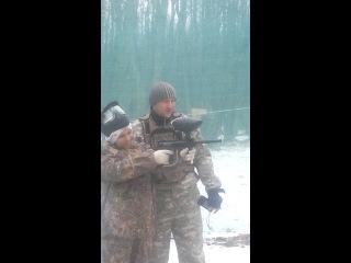 перед игрой на полигоне Темный лес 12 января 2014