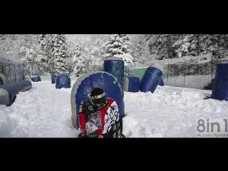 Экстремальный пейнтбол зимой / extreme winter paintball training - the frenchies, razorback / stephane couchoud, jorian ponomareff
