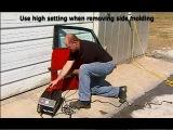 Снятие молдингов с автомобиля при помощи индукционного нагревателя Автотрон 3300-3 (Autotron 3300-3)