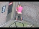 секс на улице сняли с балкона
