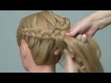Плетение кос. Легкая прическа. Romantic braided hairstyles for long hair
