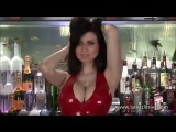 Hot brunette in red latex suite_HD