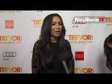 Naya Rivera from Glee arrives at 2012 Trevor Live
