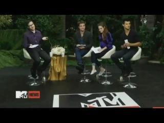Интервью Роба,Крис и Тея для MTV First (промо-тур фильма