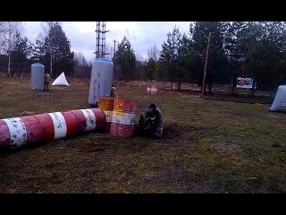 Корпоративный турнир по пейнтболу в клубе «БЫК».