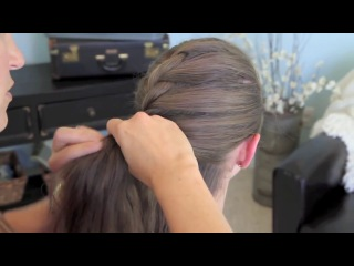 French Twist into Rope Braid - Back-to-School - Cute Girls Hairstyles