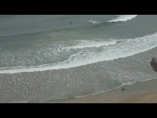 Израиль,Натания,шторм на море,вид с нашего балкона