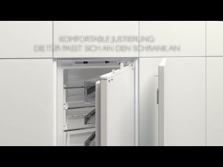 Легкость монтажа встраиваемых холодильников Neff в кухонные гарнитуры
